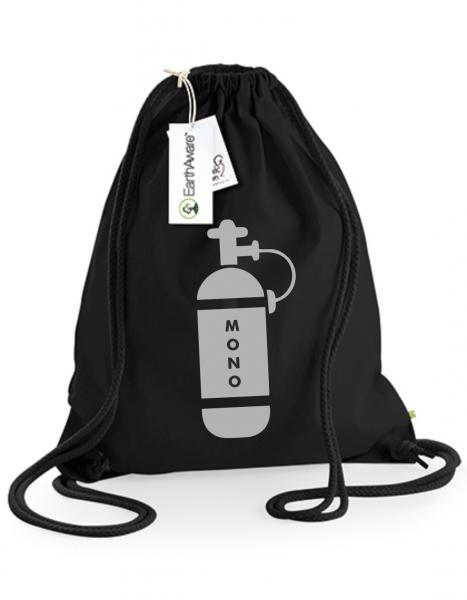 Juterucksack Beutel Mono-Tauchflasche schwarz