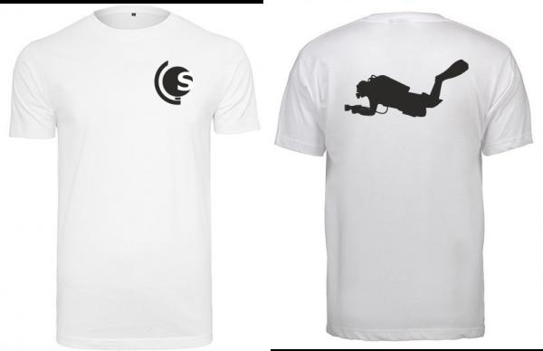 T-Shirt Taucher weiß