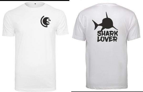 T-Shirt Shark Lover weiß