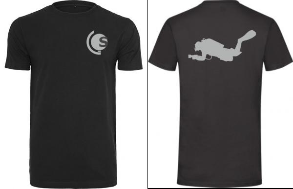 T-Shirt Taucher schwarz