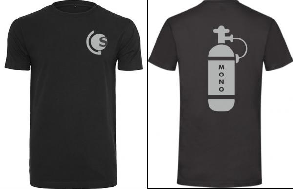 T-Shirt Mono-Tauchflasche schwarz