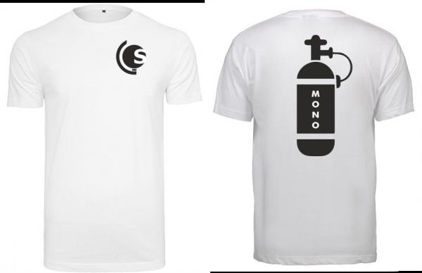 T-Shirt Mono-Tauchflasche weiß