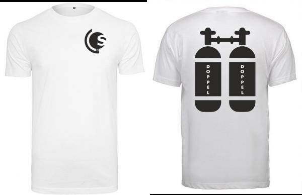T-Shirt Doppel-Tauchflasche weiß